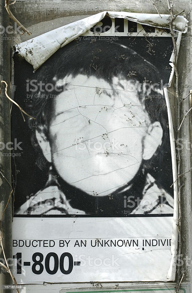 Missing Person Poster royalty-free stock photo