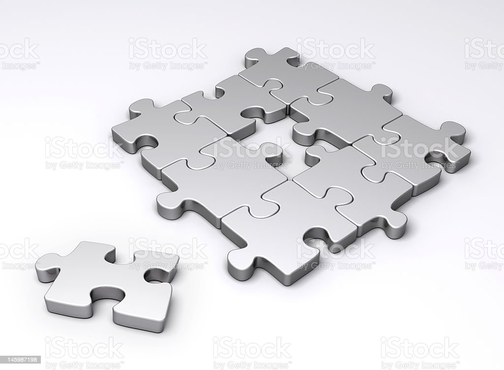 Missing piece of puzzle stock photo