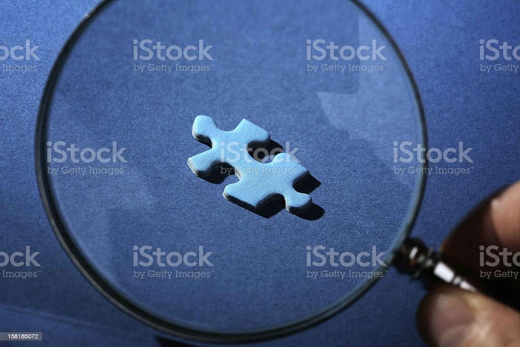 Missing piece of the puzzle royalty-free stock photo