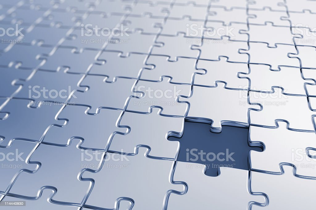 Missing piece royalty-free stock photo