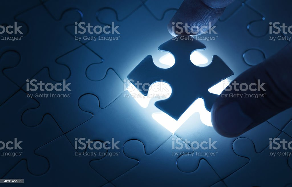 Missing piece stock photo