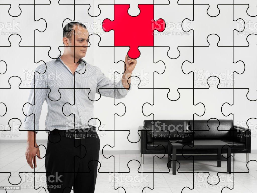 missing piece stock photo
