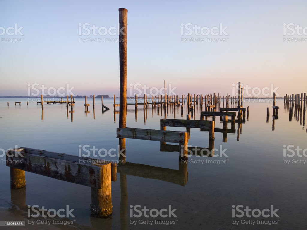 Missing Piers stock photo