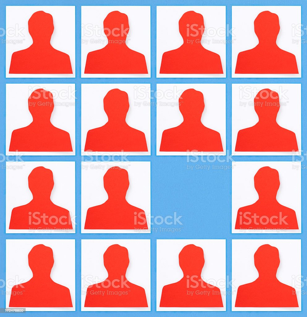 Missing profile royalty-free stock photo