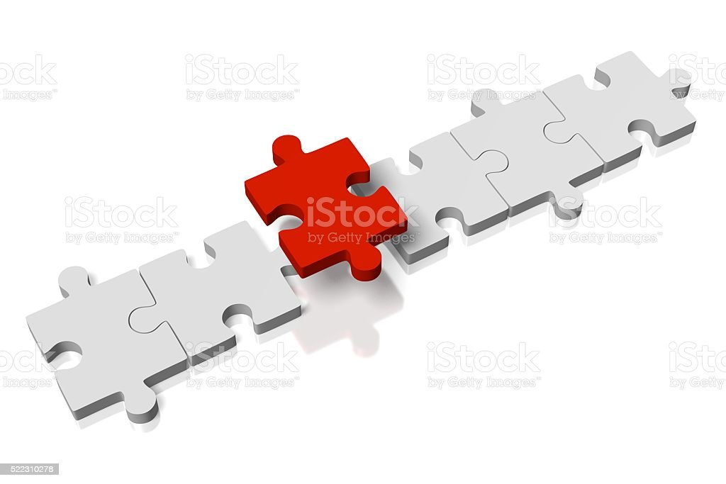 Missing puzzle concept stock photo