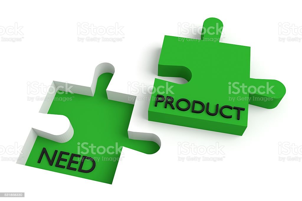 Missing puzzle piece, need and product, green stock photo