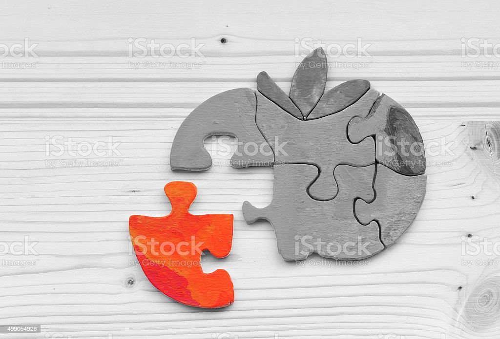 The missing puzzle piece or other types of part