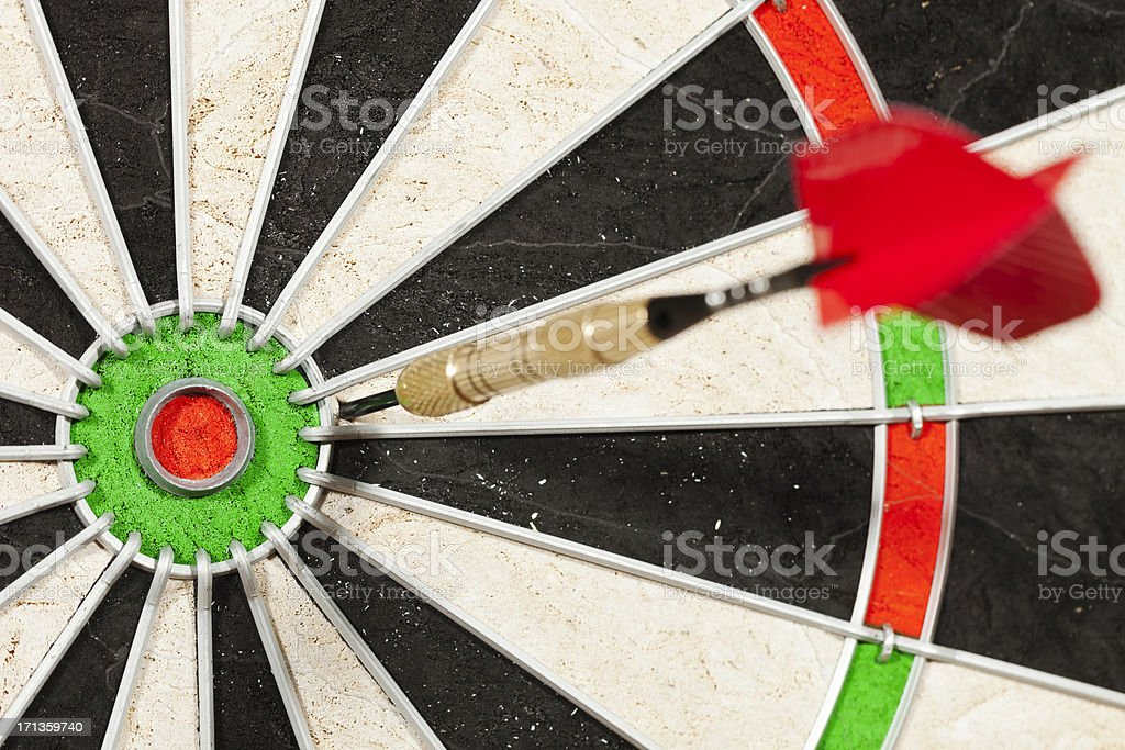 Missing The Bull's Eye stock photo