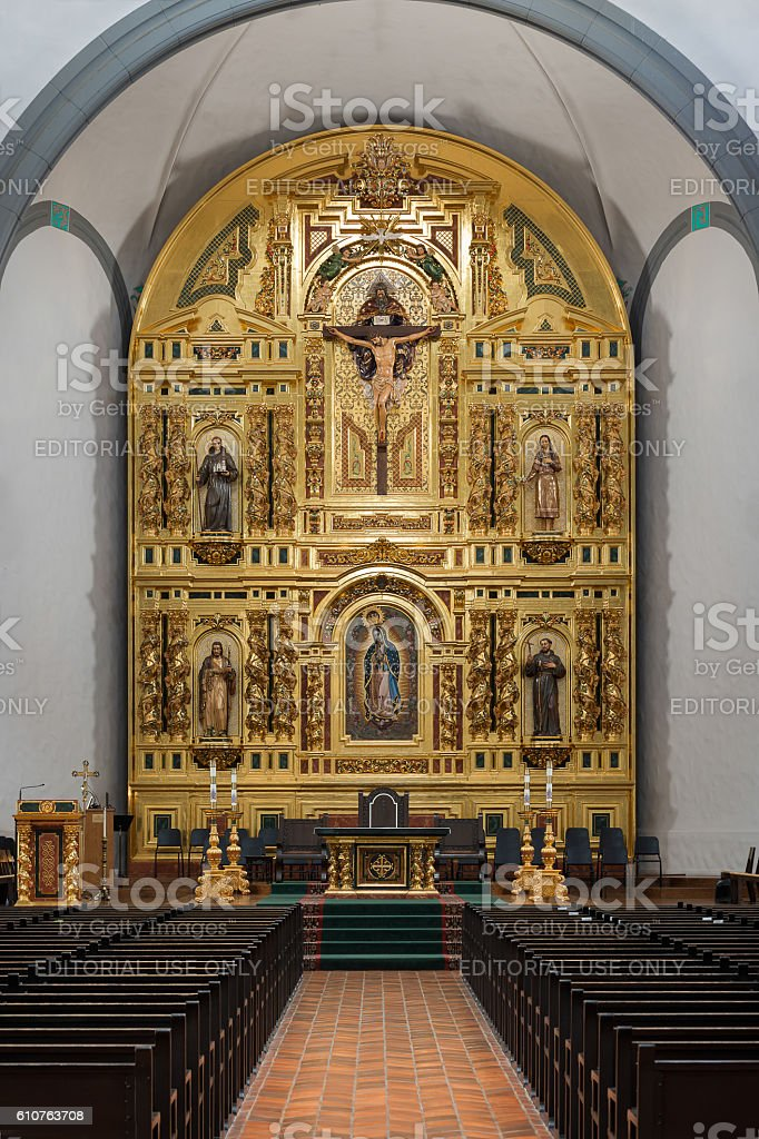Mission Basilica San Juan Capistrano stock photo