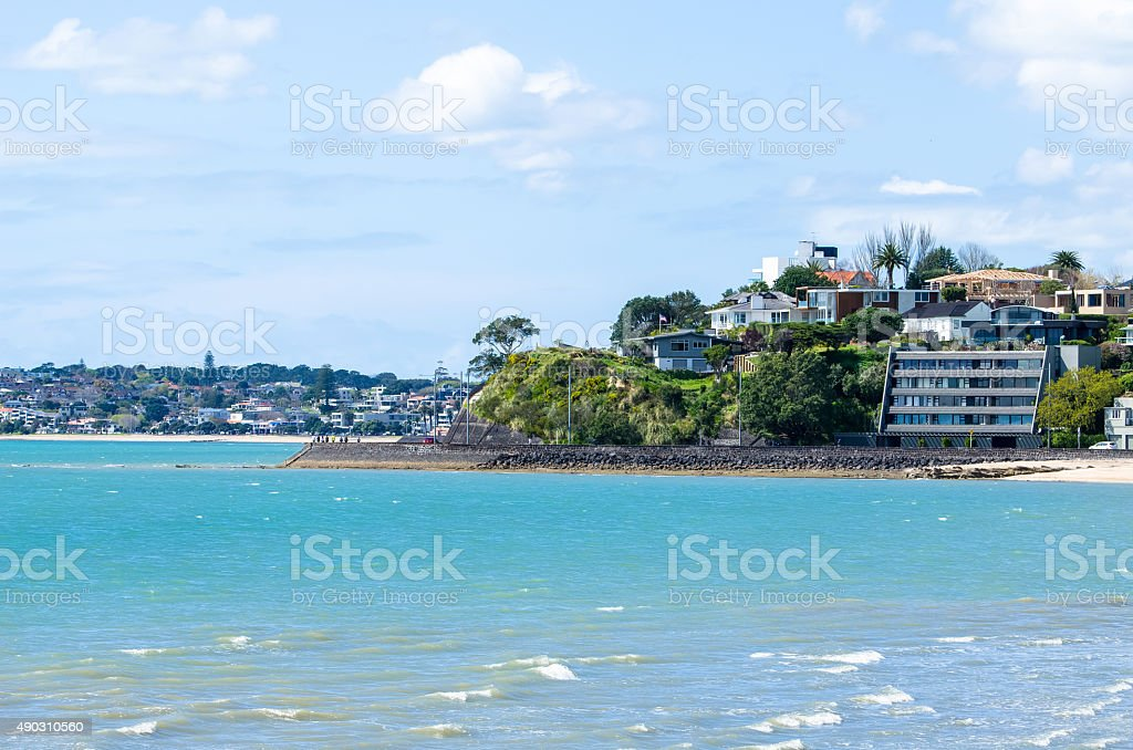 Mission Bay in Auckland,New Zealand stock photo