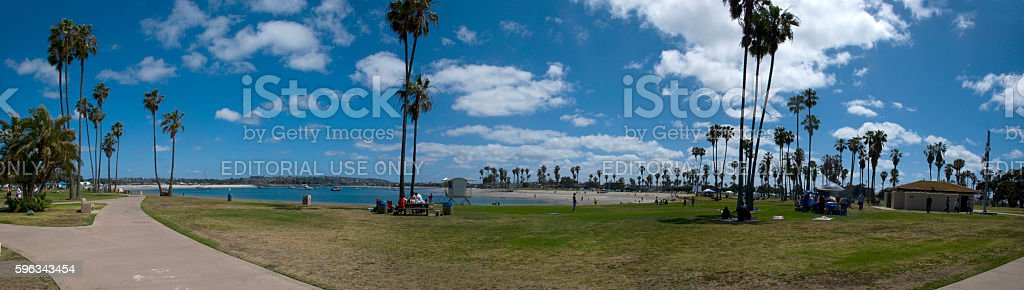 Mission Bay Park in San Diego stock photo