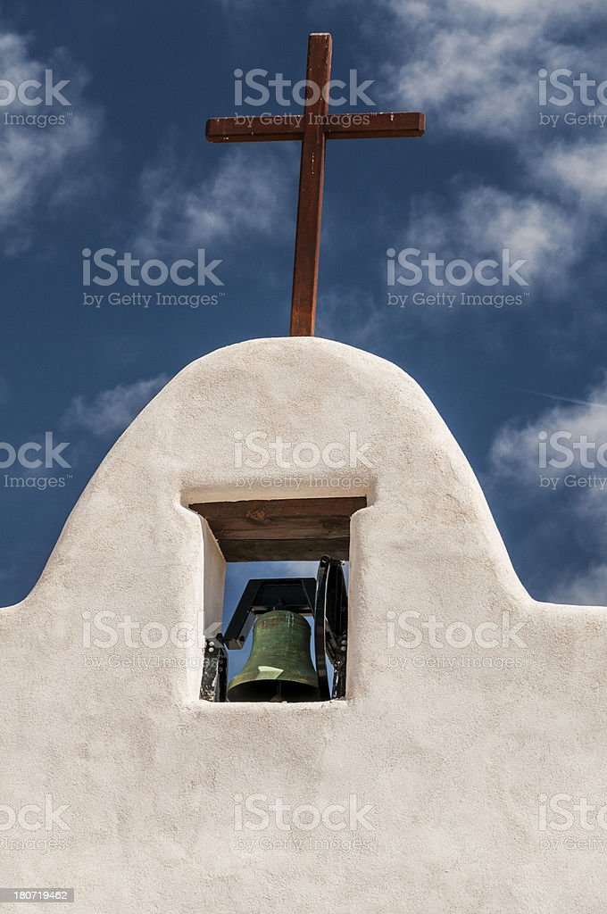 Mission Bell and Cross royalty-free stock photo