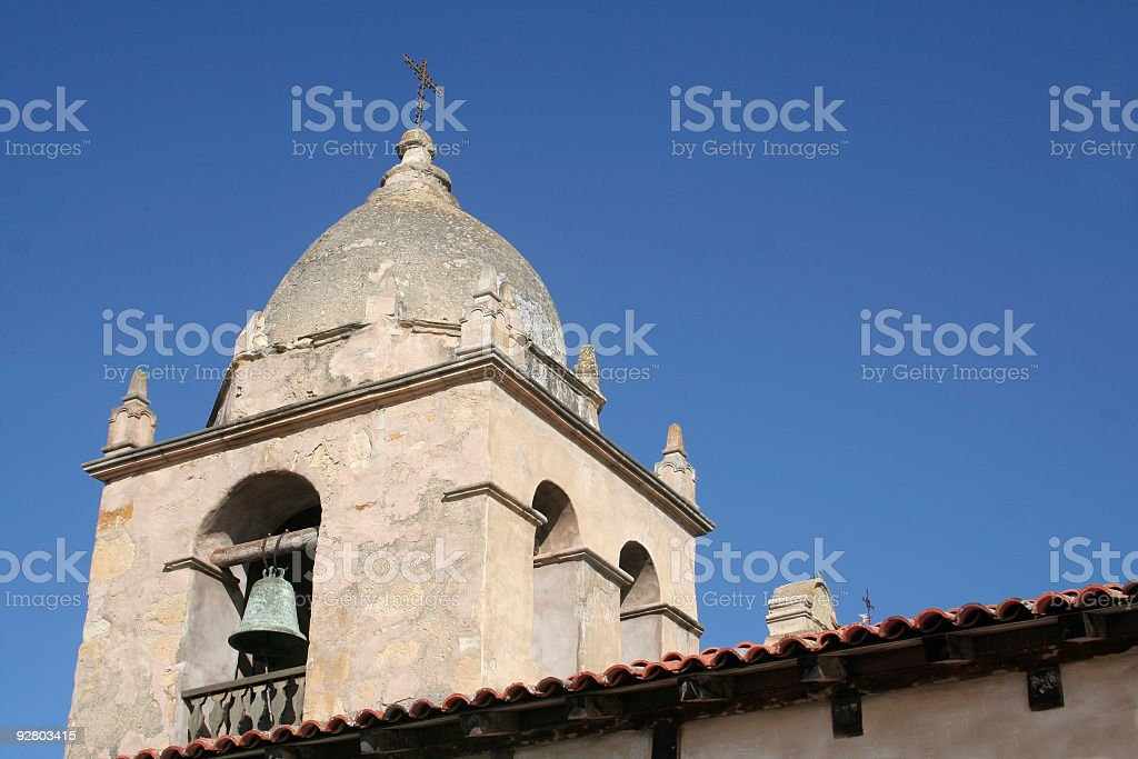 Mission Bell Tower royalty-free stock photo