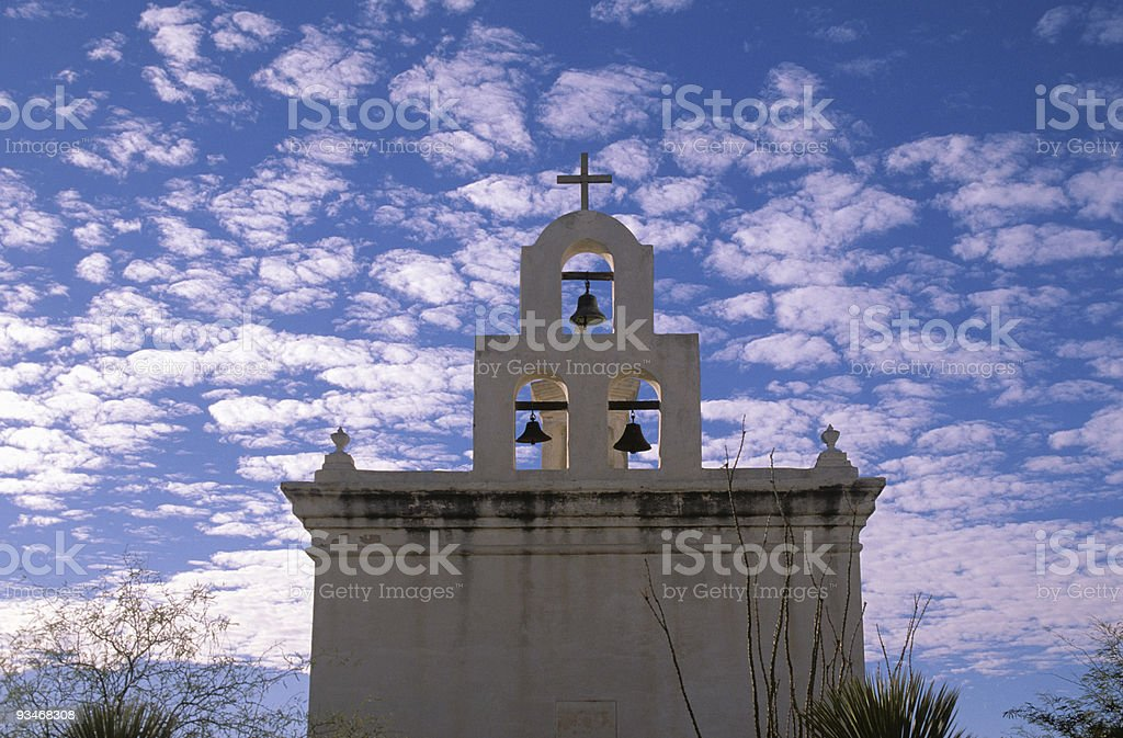 Mission Bells at Sunset royalty-free stock photo