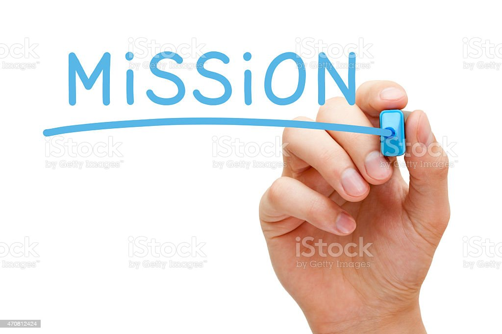 Mission Blue Marker stock photo