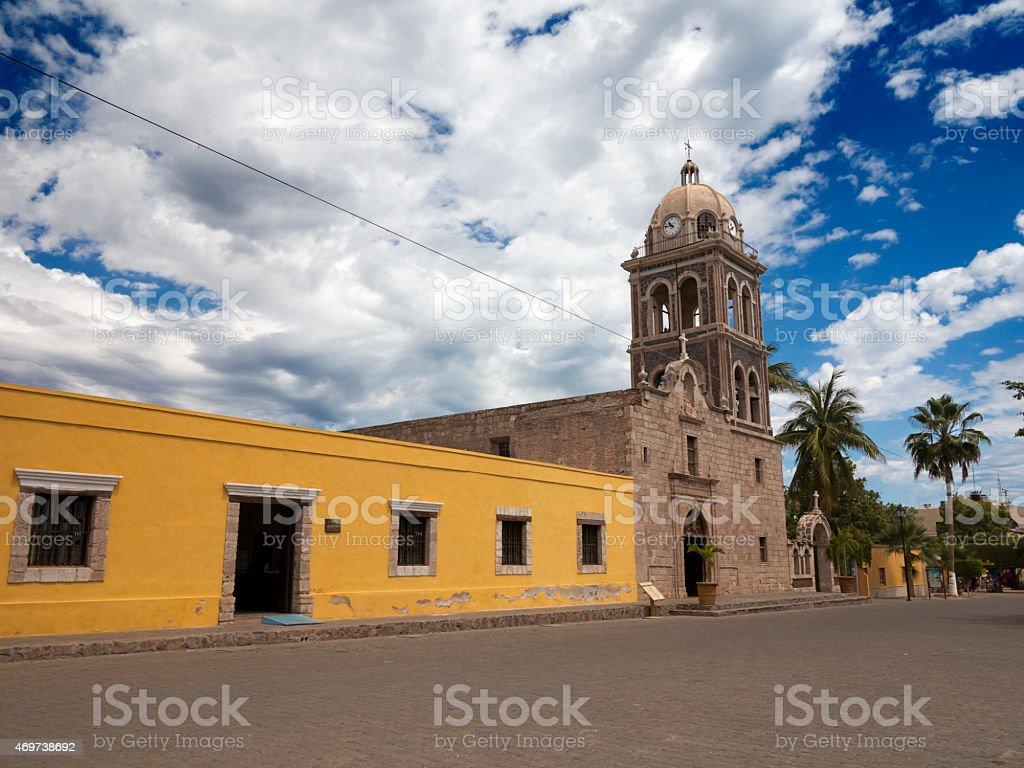 Mission church, Loreto, Mexico stock photo