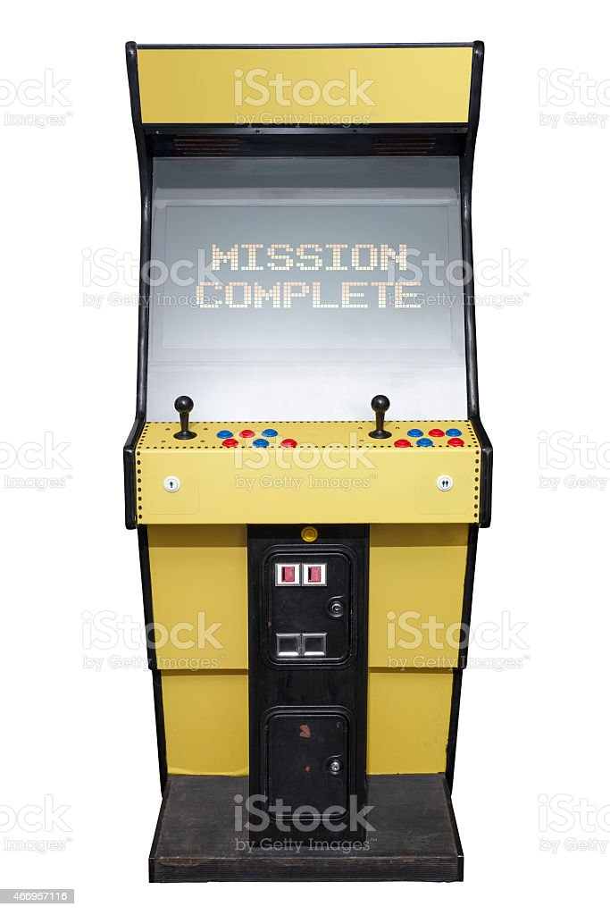 Mission Complete Arcade stock photo