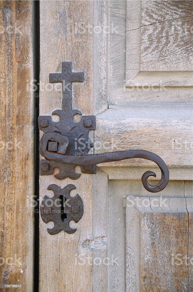 Mission Concepcion Church Door Handle stock photo