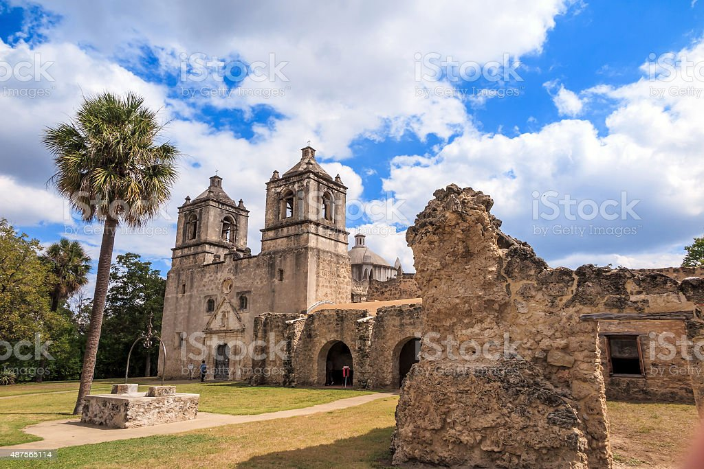 Mission Concepcion, San Antonio, Texas stock photo