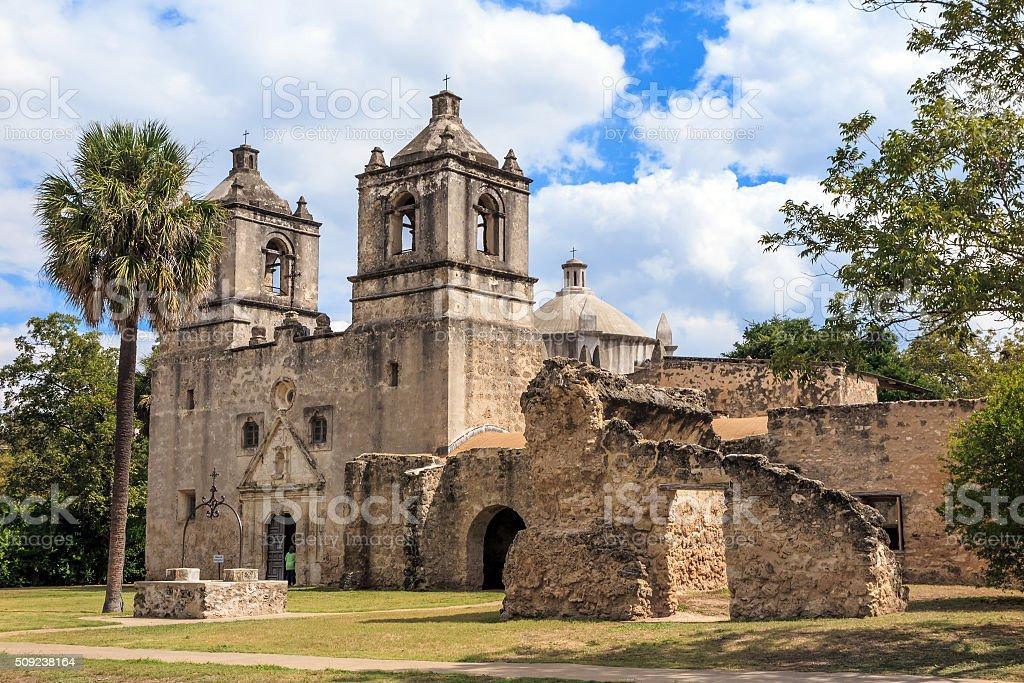 Mission Concepcion, San Antonio, Texas stock photo