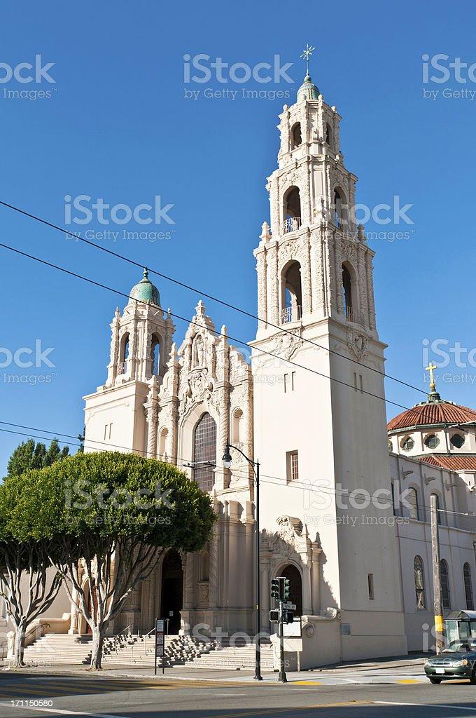 Mission Dolores Basilica San Francisco landmark church California stock photo