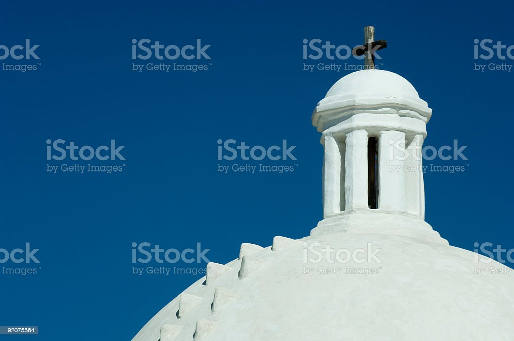 Mission Dome & Cross stock photo