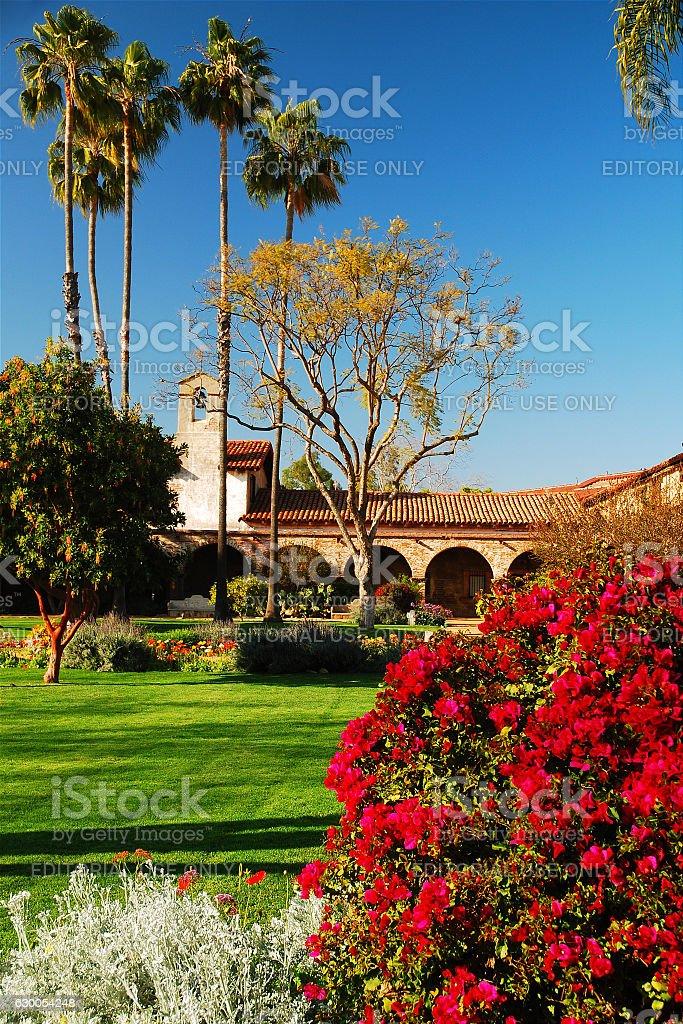Mission Gardens stock photo