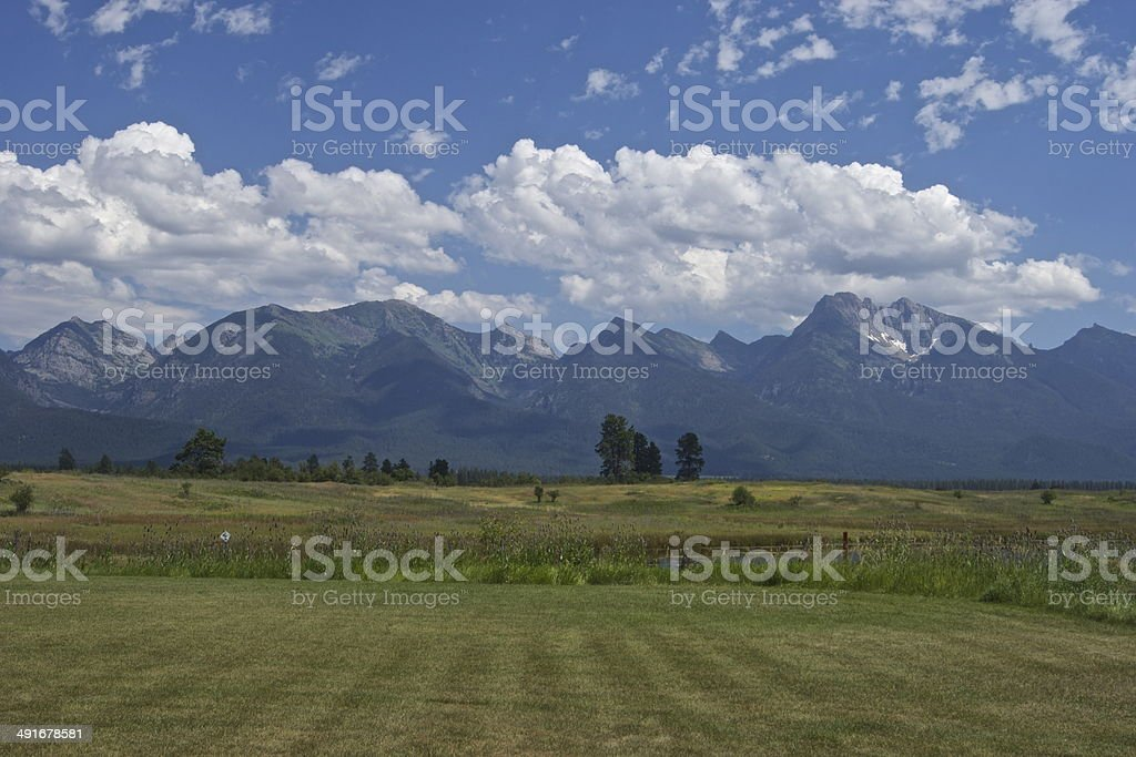 Mission Mountains Wilderness stock photo