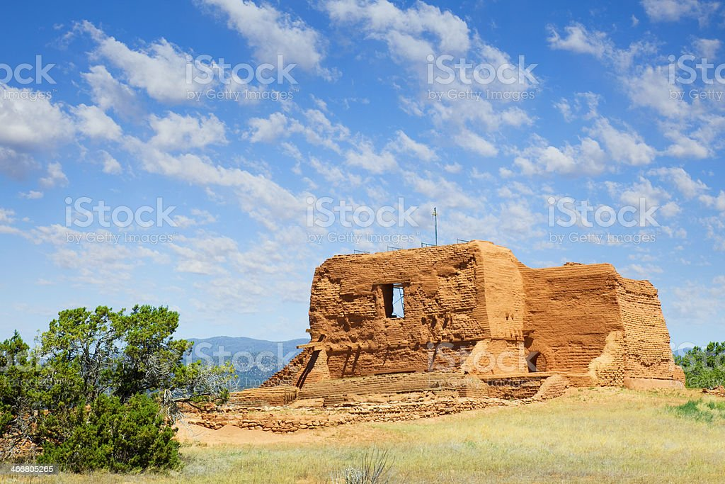 Mission Nuestra Se?ora los ?ngeles Porci?ncula - Pecos National Monument royalty-free stock photo