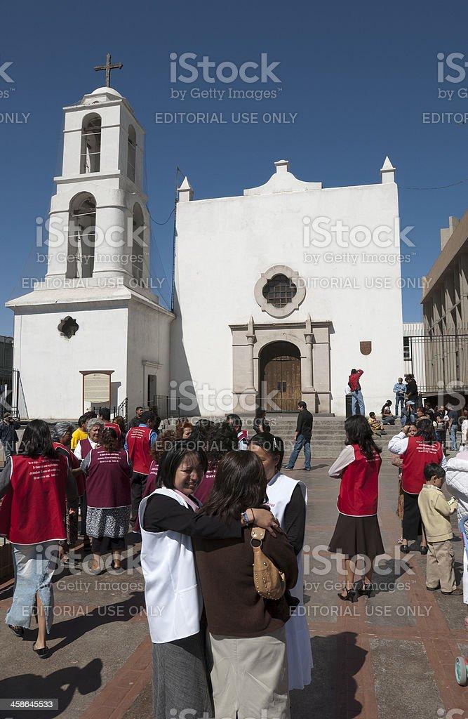 Mission of Nuestra Señora de Guadalupe, Juárez, Mexico. stock photo