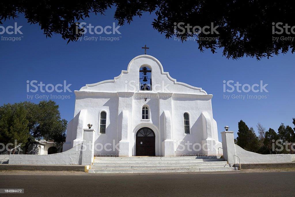 Mission of San Elizario, El Paso, Texas stock photo