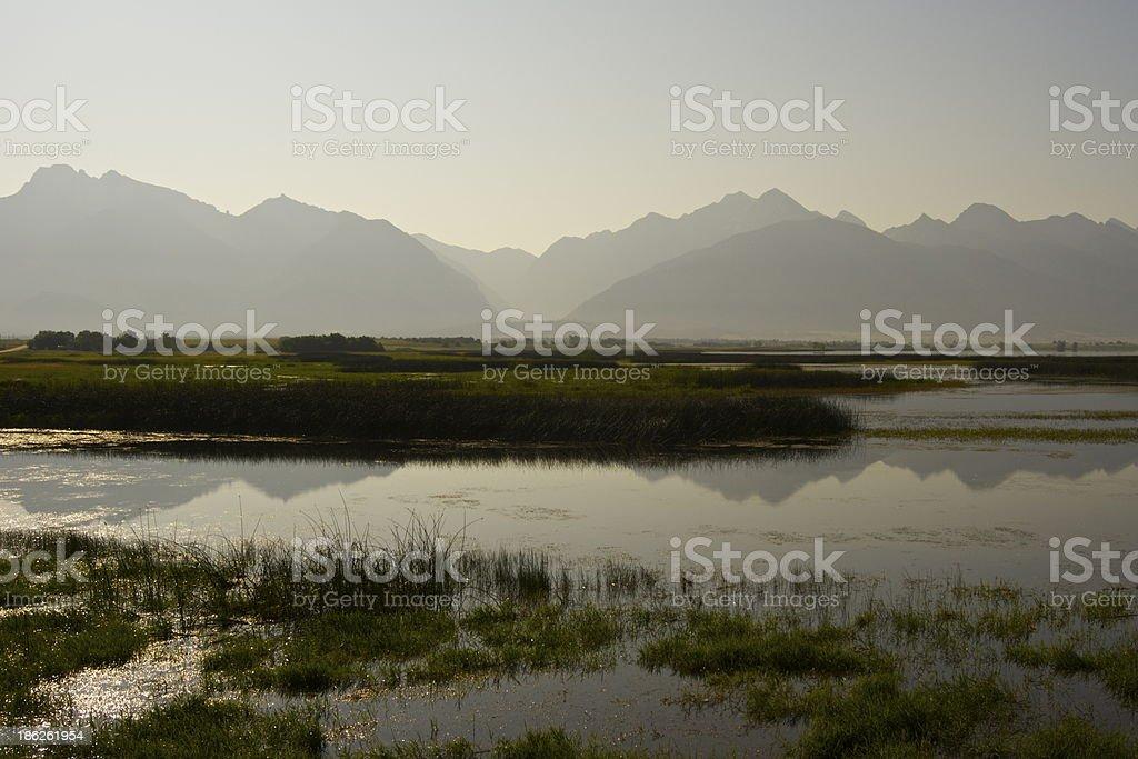 Mission Range Reflection stock photo
