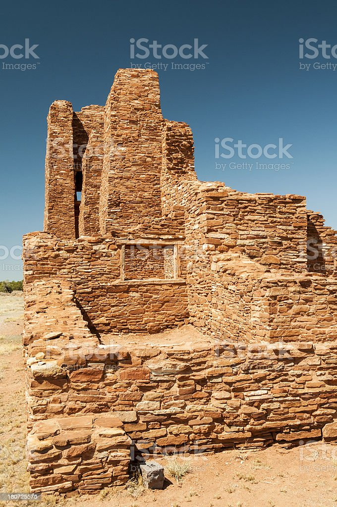 Mission Ruin at Pueblo Abo in New Mexico stock photo