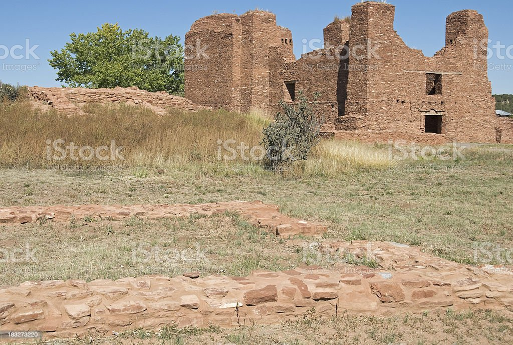 Mission ruins in New Mexico stock photo