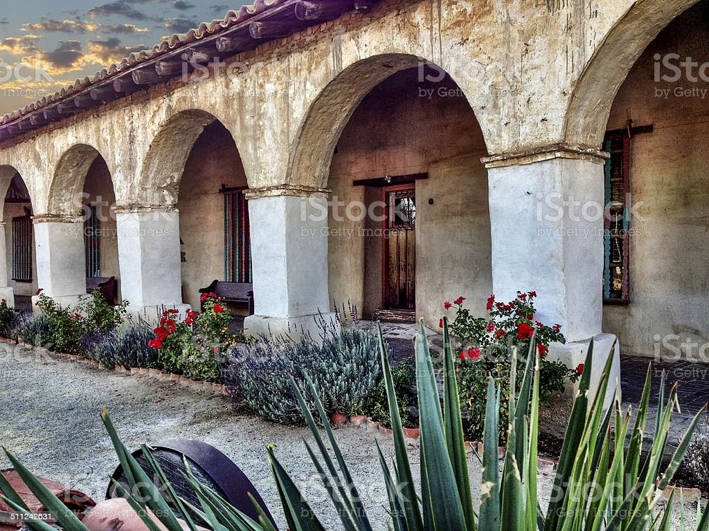 Mission San Miguel stock photo