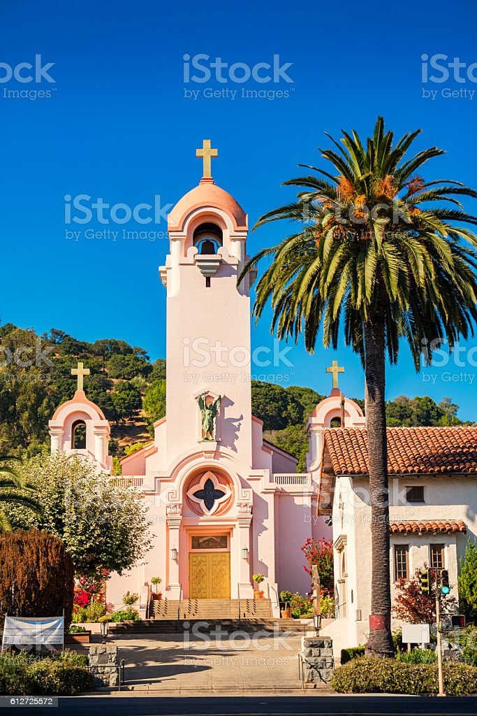 Mission San Rafael Arcangel in San Rafael California USA stock photo