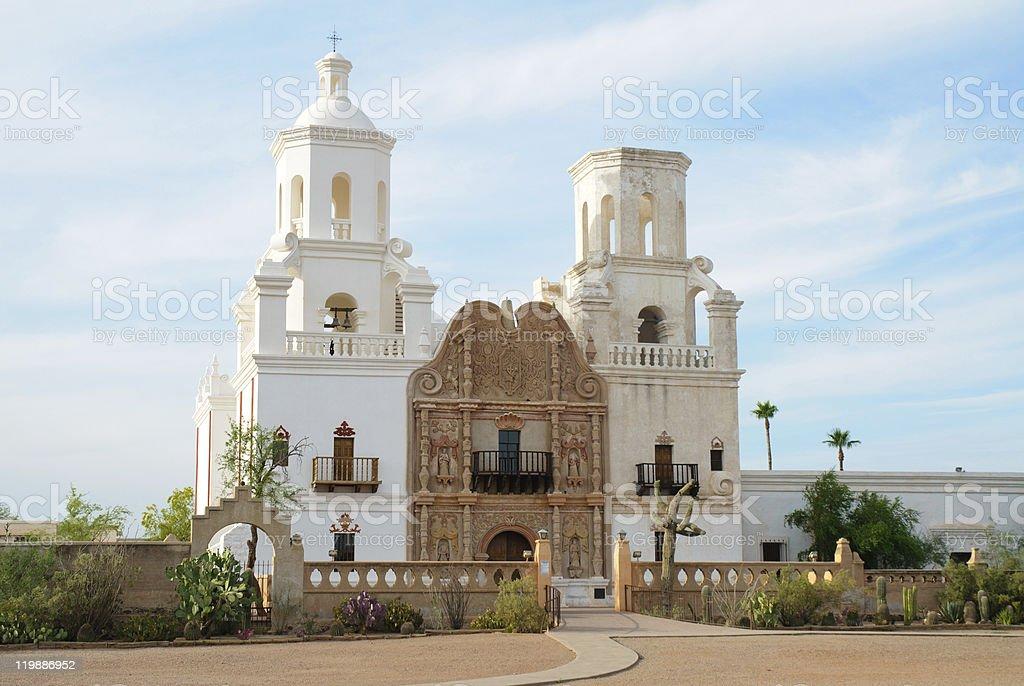 Mission San Xavier del Ba stock photo