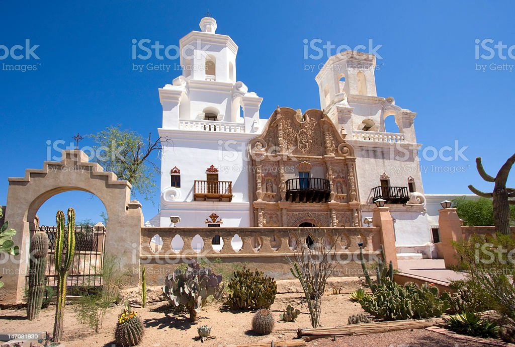 Mission San Xavier Del Bac, Tucson area royalty-free stock photo