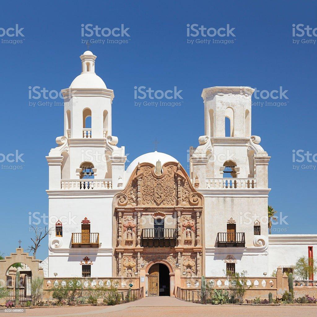 Mission San Xavier Del Bac - Tucson stock photo