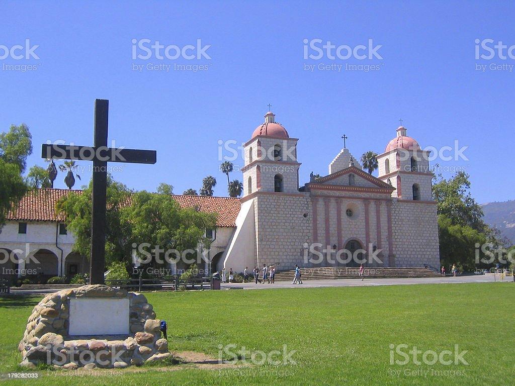 Mission Santa Barbara stock photo