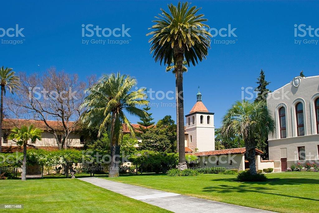 Mission Santa Clara de Asis on a sunny day stock photo