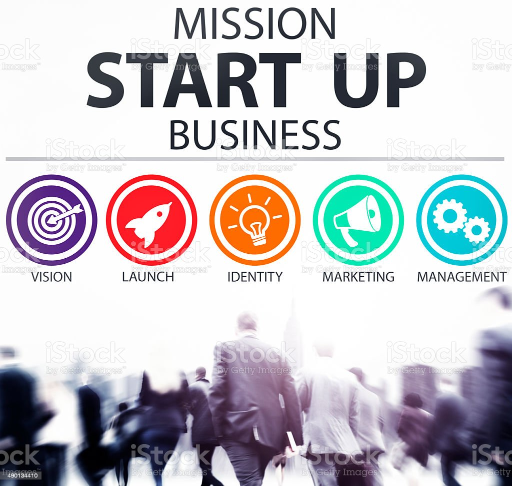 Mission Start Up Business Launch Team Success Concept stock photo
