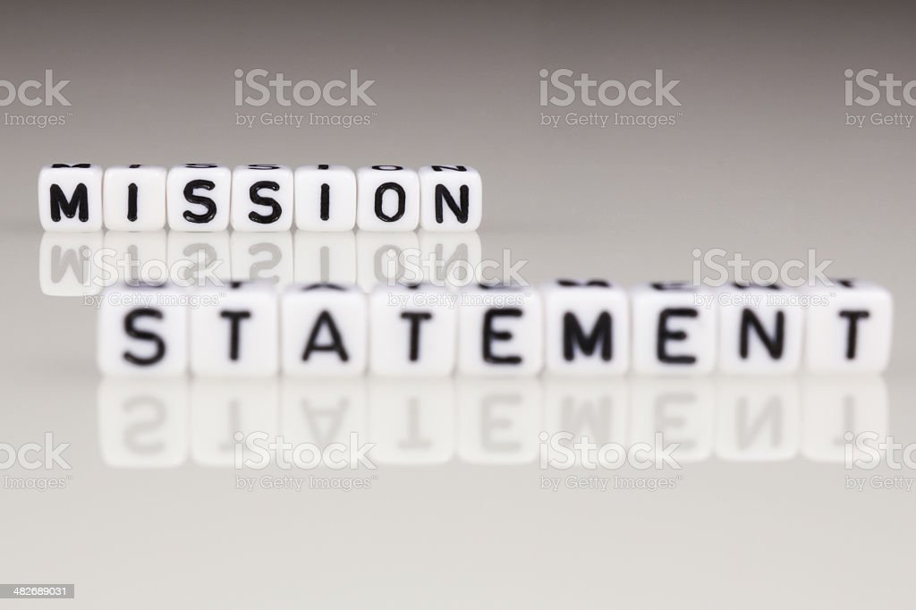 Mission Statement stock photo