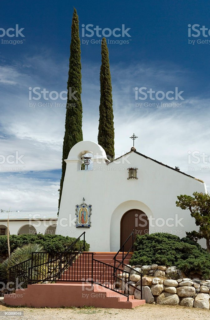 Mission Style Church In Southwest stock photo