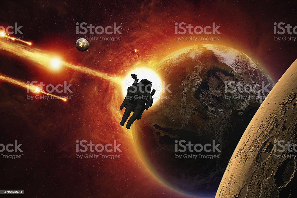 Mission to Mars stock photo