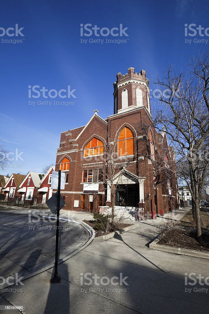 Missionary Baptist Church in Humboldt Park, Chicago royalty-free stock photo