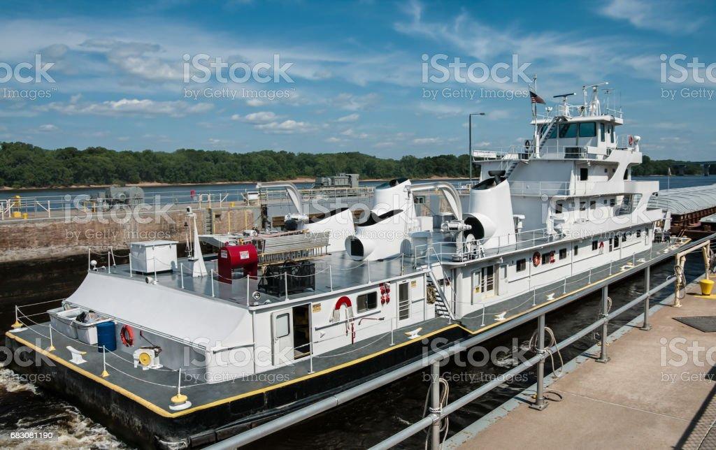 Mississippi Barge Boat stock photo