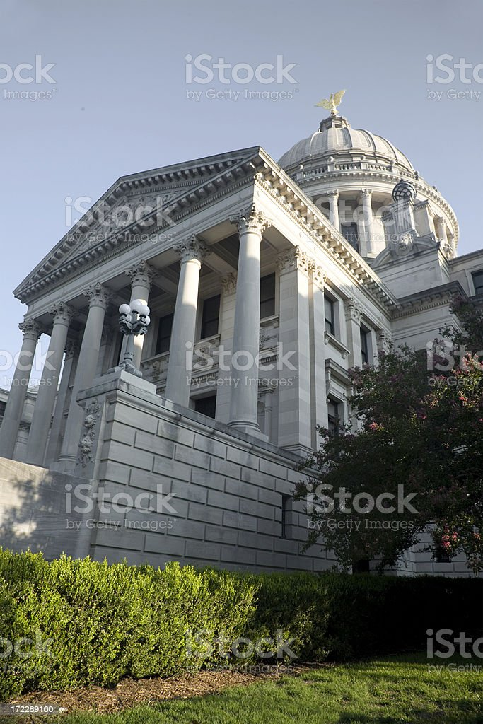 Mississippi Capitol Building stock photo