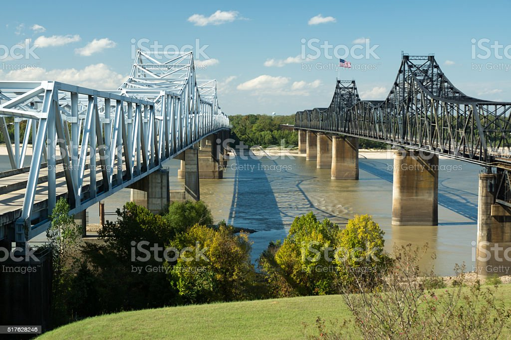 Mississippi Crossing stock photo