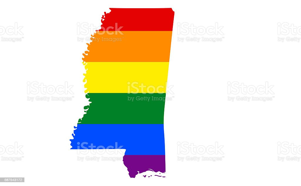 Mississippi Gay Pride State stock photo